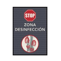 ALFOMBRA MOD LOGOMAT PRINT 60*85cm ZONA DESINFECCION 1u