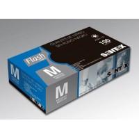 GUANTE NITRILO FLASH BLACK NEGRO T-M 100u *sin polvo* G-6,5